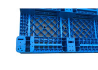 Virgin PP Rackable 1111 Blue Plastic Pallets With 3 Skids For Shelves Forklift , 1000Kg Load