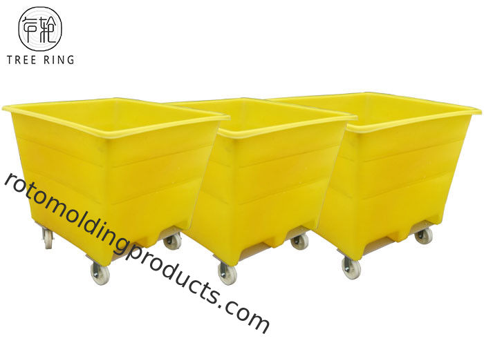 Handling Durable Rotomolding Products LLDPE With Galvanized Base Industrial  Material Handling Bins Container