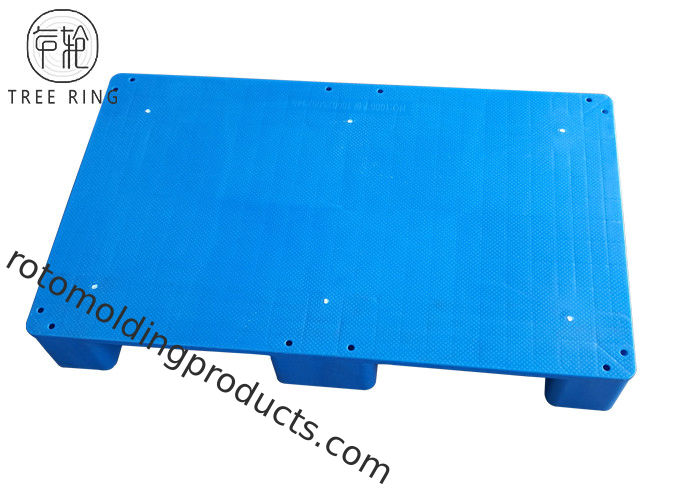 FP 1006 Smooth Top Printing HDPE Plastic Pallets , 1000 * 600 Mm Plastic Floor Pallet