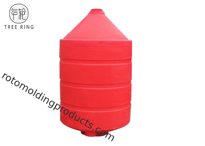 Total Drain Rotomolding Products , Plastic Cone Bottom Rinse Tanks CPT1500L Recyclable